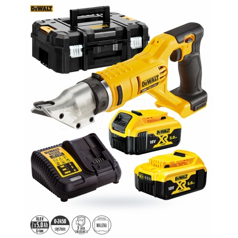 Nożyce do metalu 18V XR 2x5Ah TSTAK DeWalt