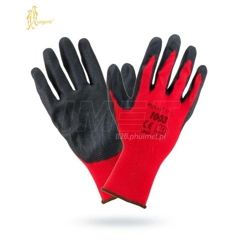 9b1e5c7c6d533 Rękawice robocze gum RTELA- 10 czerwono-czarne UR
