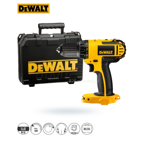 Wkrętarka 14,4V 40Nm body kufer DeWALT